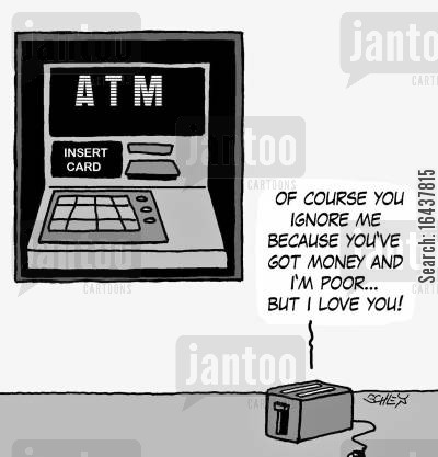 class discrepancies cartoon humor: 'Of course you ignore me because you've got money and I'm poor... but I love you!'