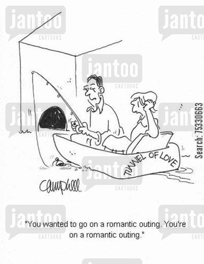 disappoints cartoon humor: 'You wanted to go on a romantic outing. You're on a romantic outing.'