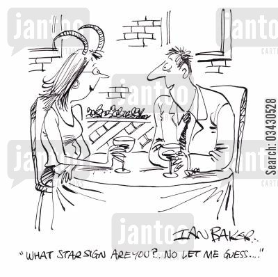 the ram cartoon humor: 'What star sign are you?...No let me guess...'
