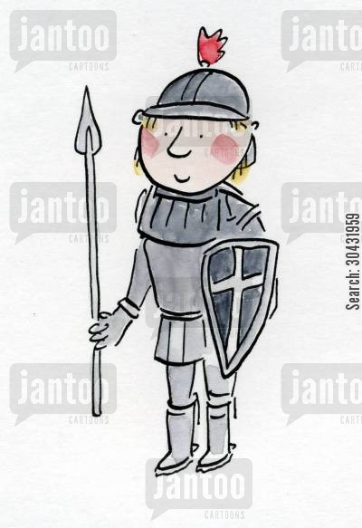 darcy cartoon humor: Knight in shining armour.