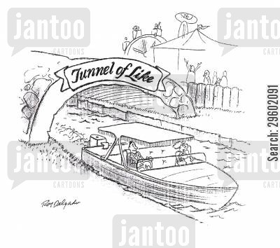 fairground cartoon humor: Tunnel of like