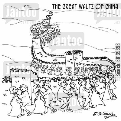 great wall of china cartoon humor: The Great Waltz Of China