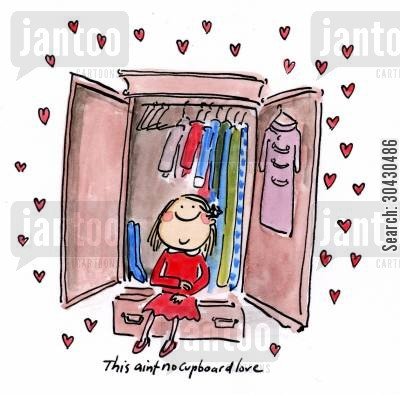 cupboard love cartoon humor: This ain't no cupboard love.