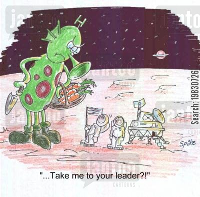 moon landings cartoon humor: Take me to your leader.