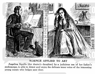 curates cartoon humor: Science Applied to Art