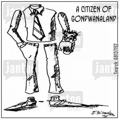 gondwanaland cartoon humor: A citizen of Gondwanaland.