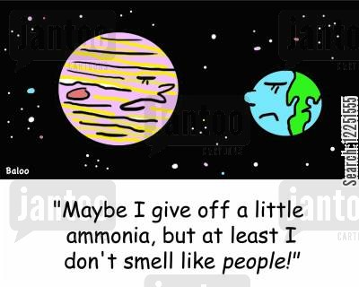 ammonia cartoon humor: 'Maybe I give off a little ammonia, but at least I don't smell like people!'