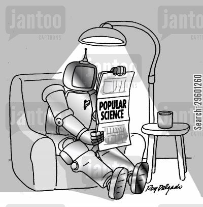relaxation cartoon humor: Popular Science Magazine.