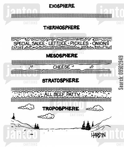 baguette cartoon humor: The Troposhere