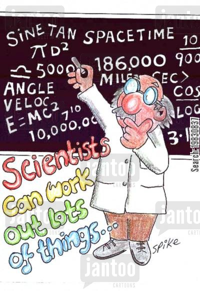 blackboards cartoon humor: Scientist.