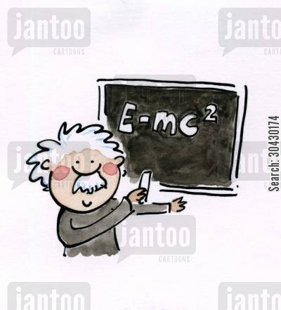 genius cartoon humor: Einstein.