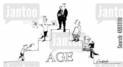 old men cartoon humor: Aging.