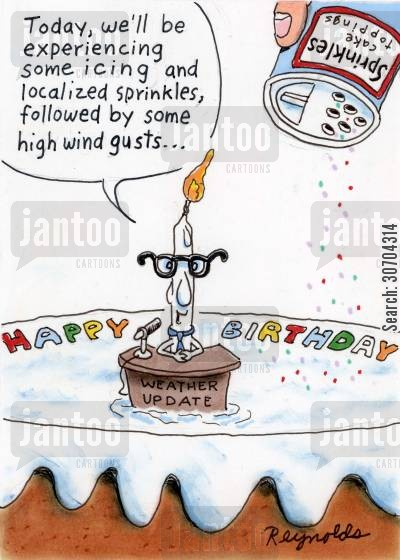 cake cartoon humor: Happy Birthday Cake.