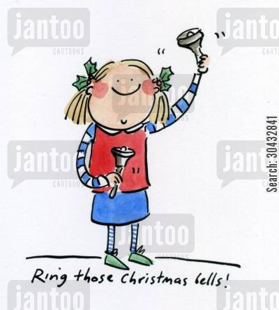 christmas bell cartoon humor: Ring those Christmas bells!