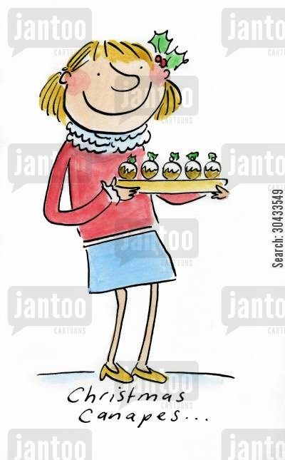 christmas party cartoon humor: Christmas Canapes