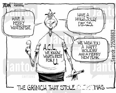 l cartoon humor: The Grinch Who Stole ?