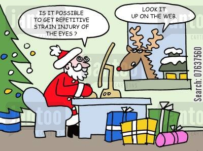 office jobs cartoon humor: 'Repetitive strain injury of the eyes?'