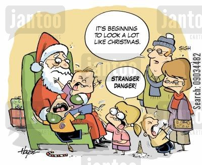 shopping malls cartoon humor: 'It's beginning to look at lot like Christmas.'
