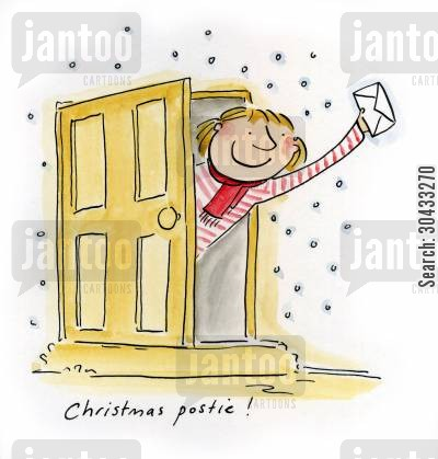 gift cartoon humor: Christmas postie!
