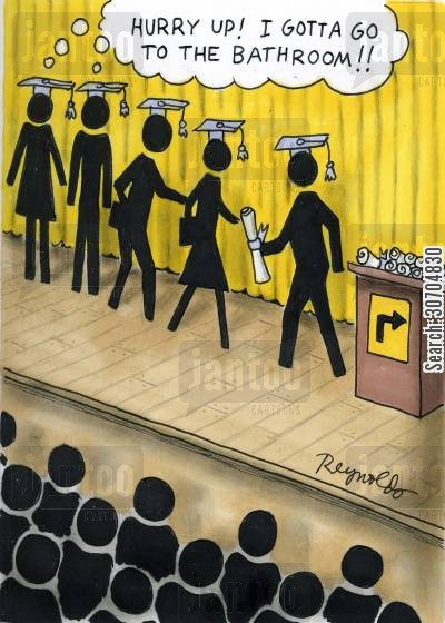 public toilet signs cartoon humor: 'Hurry up, I gotta go to the bathroom!'