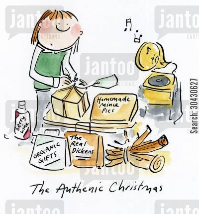 meatloaf cartoon humor: The Authentic Christmas.