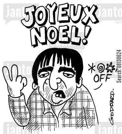 gallagher cartoon humor: Joyeux Noel (Gallagher).