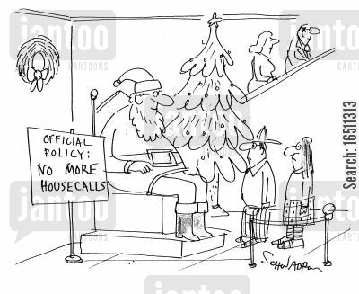 housecalls cartoon humor: Official Policy: No more housecalls.