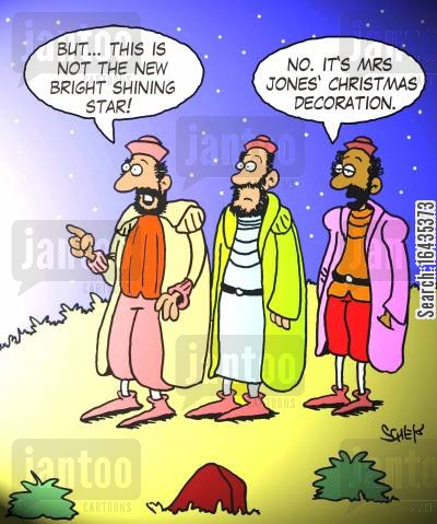 baby jesus cartoon humor: 'But... this is not the new bright shining star!'