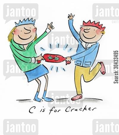 christmas times cartoon humor: C is for Cracker