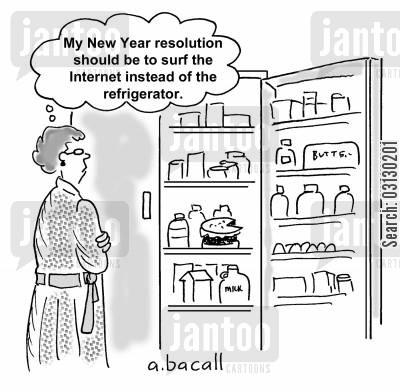 new years eve cartoon humor: New Years Resolutions.