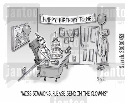 loners cartoon humor: Miss Simmons, Please Send In The Clowns.
