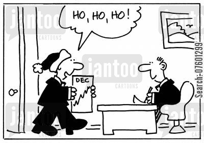 profit graph cartoon humor: 'Ho, ho, ho!'