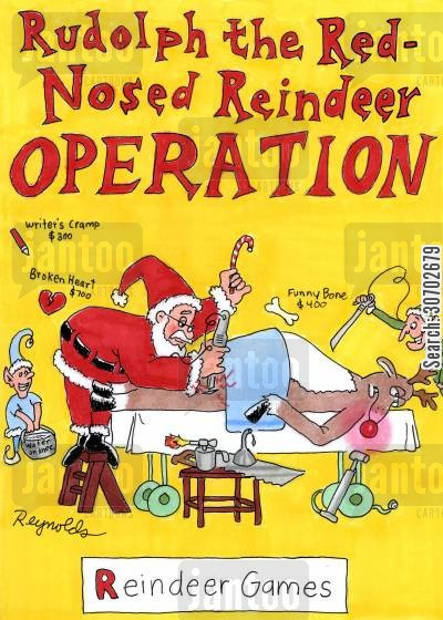 rudolph the red-nosed raindeer cartoon humor: Rudolph the Red-Nosed Reindeer Operation - Reindeer Games.