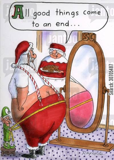 fat cartoon humor: 'All good things come to end.'