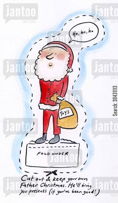 sac cartoon humor: Cut out and keep your own Sanat Claus.
