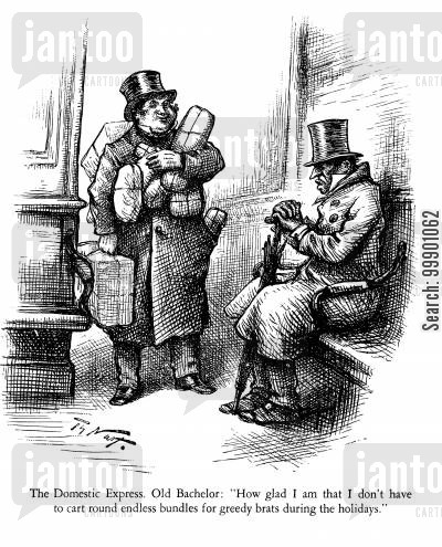 scrooge cartoon humor: Humbug of Old Bachelor