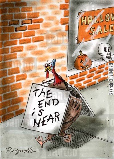 the end is in sight cartoon humor: The End is Near.