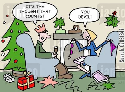 the thought that counts cartoon humor: It's the thought that counts! You devil!