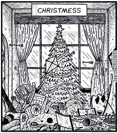 messes cartoon humor: Christmess