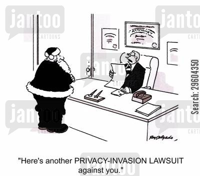 invade cartoon humor: 'Here's another PRIVACY-INVASION LAWSUIT against you.'