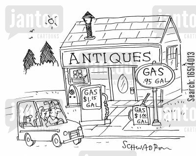 antiques shop cartoon humor: Antiques.