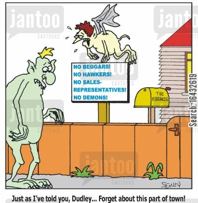 hawkers cartoon humor: Just as I've told you, Dudley... Forget about this part of town!