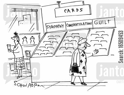 congratulate cartoon humor: Cards: SympathyCongratulationsGuilt.