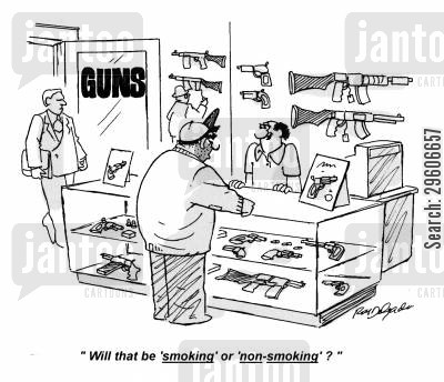 preferences cartoon humor: 'Will that be 'smoking' or 'non-smoking'?'
