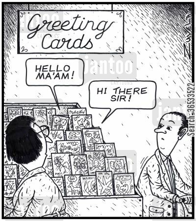 card shops cartoon humor: Greeting Cards.