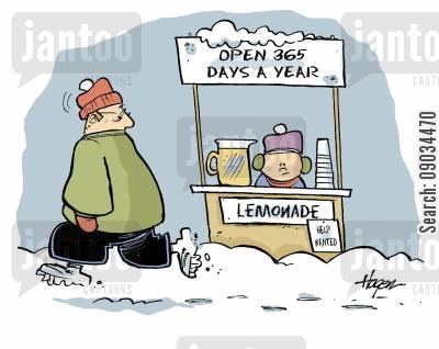 opening times cartoon humor: 365 Lemonade Stand
