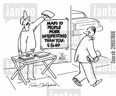 celebrities cartoon humor: Maps to people more interesting than you. $5.00.