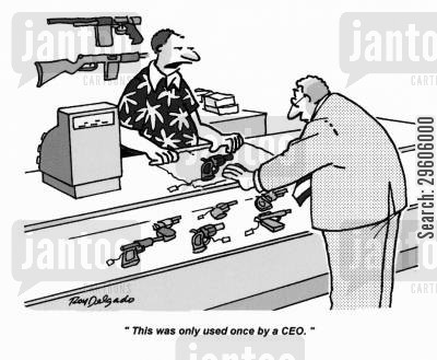 fact cartoon humor: 'This was only used once by a CEO.'