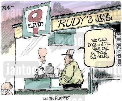 rudy giuliani cartoon humor: Rudy's Nine Eleven.