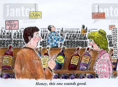 inventory cartoon humor: 'Honey, this one sounds good.'